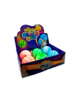 S6121	SQUEEZE BALL DUAL COLORS – exhibidor x6 unidades